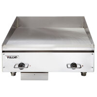 Vulcan HEG24E-24C 24 inch Electric Chrome Top Restaurant Griddle with Snap-Action Thermostatic Controls - 208V, 3 Phase, 10.8 kW