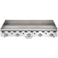 Vulcan MSA60-30C 60 inch Natural Gas Chrome Top Commercial Griddle / Grill with Snap-Action Thermostatic Controls and Extra Deep Plate - 135,000 BTU
