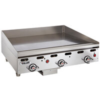 Vulcan 936RX-24C 36 inch Natural Gas Chrome Top Commercial Griddle with Snap-Action Thermostatic Controls - 81,000 BTU