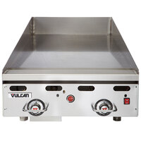 Vulcan 924RX-30C 24 inch Natural Gas Chrome Top Commercial Griddle with Snap-Action Thermostatic Controls and Extra Deep Plate - 54,000 BTU