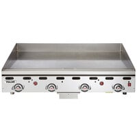 Vulcan 948RX-30C 48 inch Liquid Propane Chrome Top Commercial Griddle with Snap-Action Thermostatic Controls and Extra Deep Plate - 108,000 BTU