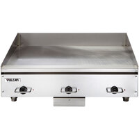 Vulcan HEG36E-24C 36 inch Electric Chrome Top Restaurant Griddle with Snap-Action Thermostatic Controls - 240V, 1 Phase, 16.2 kW