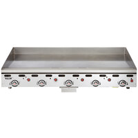Vulcan 960RX-30C 60 inch Natural Gas Chrome Top Commercial Griddle with Snap-Action Thermostatic Controls and Extra Deep Plate - 135,000 BTU