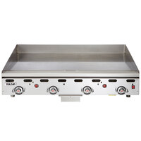 Vulcan 948RX-24C 48 inch Liquid Propane Chrome Top Commercial Griddle with Snap-Action Thermostatic Controls - 108,000 BTU