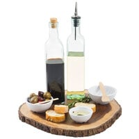 Tablecraft 616 Prima 16 oz. Green Glass Oil and Vinegar Bottle with Cork