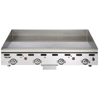 Vulcan MSA48-30C 48 inch Liquid Propane Chrome Top Commercial Griddle / Grill with Snap-Action Thermostatic Controls and Extra Deep Plate - 108,000 BTU