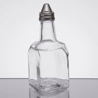Anchor Hocking 97288 6 oz. Oil and Vinegar Bottle with Stainless Steel Spout   - 4/Case