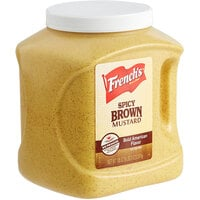 French's 105 oz. Spicy Brown Mustard - 4/Case