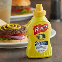 French's 12 oz. Classic Yellow Mustard Squeeze Bottle - 12/Case
