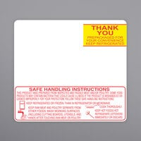 Toledo 1723-S/H 2 5/8 inch x 2 3/8 inch White Safe Handling Pre-Printed Equivalent Scale Label Roll - 30/Case