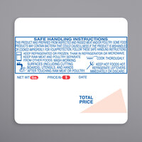 Ishida 1848-S/H 64 mm x 59 mm White Safe Handling Pre-Printed Equivalent Scale Label Roll - 12/Case