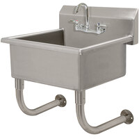 Advance Tabco FS-WM-2219-F 14-Gauge Multi-Station Wall Mounted Hand Sink with 10 inch Deep Sink Bowl with 1 Faucet - 23 inch x 23 inch