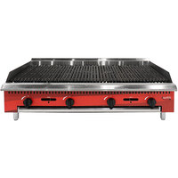 Avantco Chef Series CAG48RC 48 inch Gas Countertop Radiant Charbroiler - 140,000 BTU