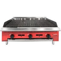 Avantco Chef Series CAG36RC 36 inch Gas Countertop Radiant Charbroiler - 105,000 BTU