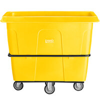 Lavex Industrial 16 Cubic Foot Yellow Cube Truck (1000 lb. Capacity)
