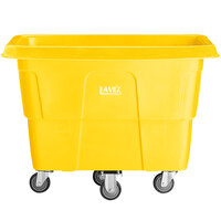 Lavex Industrial 8 Cubic Foot Yellow Cube Truck (500 lb. Capacity)