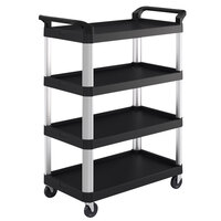 Suncast RC4S2040 39 7/8 inch x 20 inch x 38 3/16 inch Black 4-Shelf Service Cart