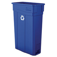 Suncast TCN2030BLR 23 Gallon Blue Slim Rectangular Recycling Can