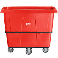 Lavex Industrial 16 Cubic Foot Red Cube Truck (1000 lb. Capacity)