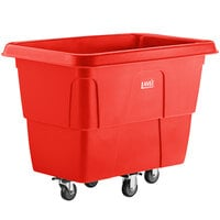 Lavex Industrial 12 Cubic Foot Red Cube Truck (600 lb. Capacity)