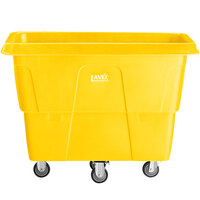 Lavex Industrial 12 Cubic Foot Yellow Cube Truck (600 lb. Capacity)