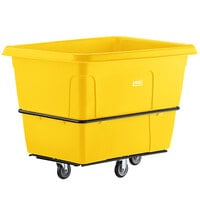 Lavex Industrial 20 Cubic Foot Yellow Cube Truck (1200 lb. Capacity)