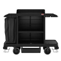 Suncast HKC1001 Black Standard Janitor / Housekeeping Cart with Bag and Non-Marring Wall Bumpers