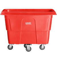 Lavex Industrial 8 Cubic Foot Red Cube Truck (500 lb. Capacity)