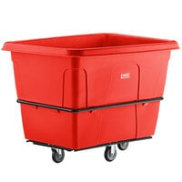 Lavex Industrial 20 Cubic Foot Red Cube Truck (1200 lb. Capacity)