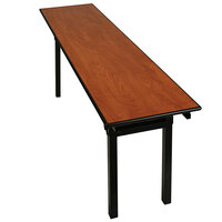 "Resilient RS-HO 18"" x 72"" Folding Seminar Table with Plywood Top"