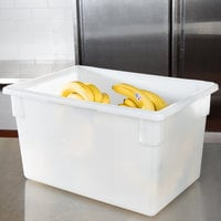 Carlisle 1064402 StorPlus White Food Storage Box - 26 inch x 18 inch x 15 inch