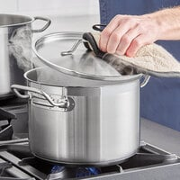 Vigor 6.5 Qt. Stainless Steel Stock Pot with Aluminum-Clad Bottom and Cover
