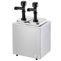 Server SB-2 79790 Cold Station Countertop Condiment Dispenser with 2 Jars and 2 Solution Pumps