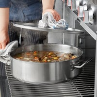 Vigor 12 Qt. Stainless Steel Brazier with Aluminum-Clad Bottom and Cover