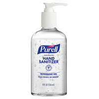 Purell® 4102-12-S Advanced 8 oz. Gel Instant Hand Sanitizer with Pump   - 12/Case