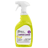 Noble Chemical 1 Qt. / 32 oz. Lemon Lance Ready-to-Use Disinfectant & Detergent Cleaner - 12/Case