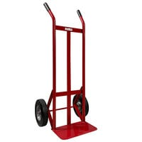 Winholt 508SP-RD Heavy Duty Steel Pipe Hand Truck with 10 inch Semi-Pneumatic Wheels - 800 lb.