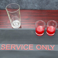 Choice 12 inch x 18 inch Black and Red Service Only Bar Mat