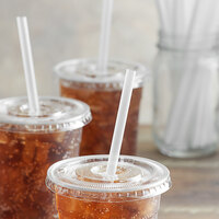 8 1/4 inch Giant Translucent Wrapped Straw - 10800/Case