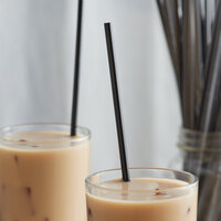 10 1/4 inch Jumbo Black Wrapped Straw - 6000/Case