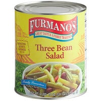 Furmano's #10 Can Three Bean Salad - 6/Case