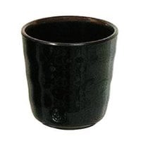 Thunder Group 9753TM Tenmoku Black 8 oz. Melamine Mug - 12/Case