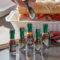 TABASCO® .125 oz. Chipotle Hot Sauce Mini Bottles   - 144/Case