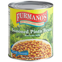 Furmano's #10 Can Seasoned Pinto Beans (Borracho Style) - 6/Case