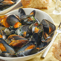 Mussel King 1 lb. Whole Cooked Price Edward Island Mussels - 20/Case