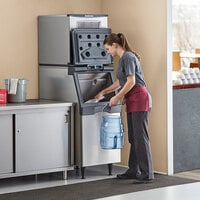 Scotsman NS0422A-1 Prodigy Plus Series 22 inch Air Cooled Nugget Ice Machine with Bin - 420 lb.