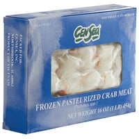 CenSea 1 lb. Wild Caught Colossal Lump Crab Meat - 24/Case