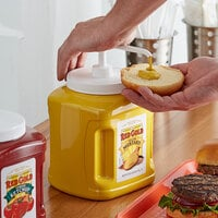 Red Gold Yellow Mustard 105 oz. Plastic Jug with Pump - 6/Case