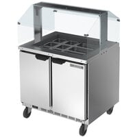 Beverage-Air SPE36HC-12-S 36 inch Stainless Steel Refrigerated Salad Bar / Cold Food Table