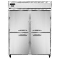 Continental Refrigerator 2FESN-SS-HD 57 inch Half Door Extra Wide Shallow Depth Reach-In Freezer - 40 Cu. Ft.